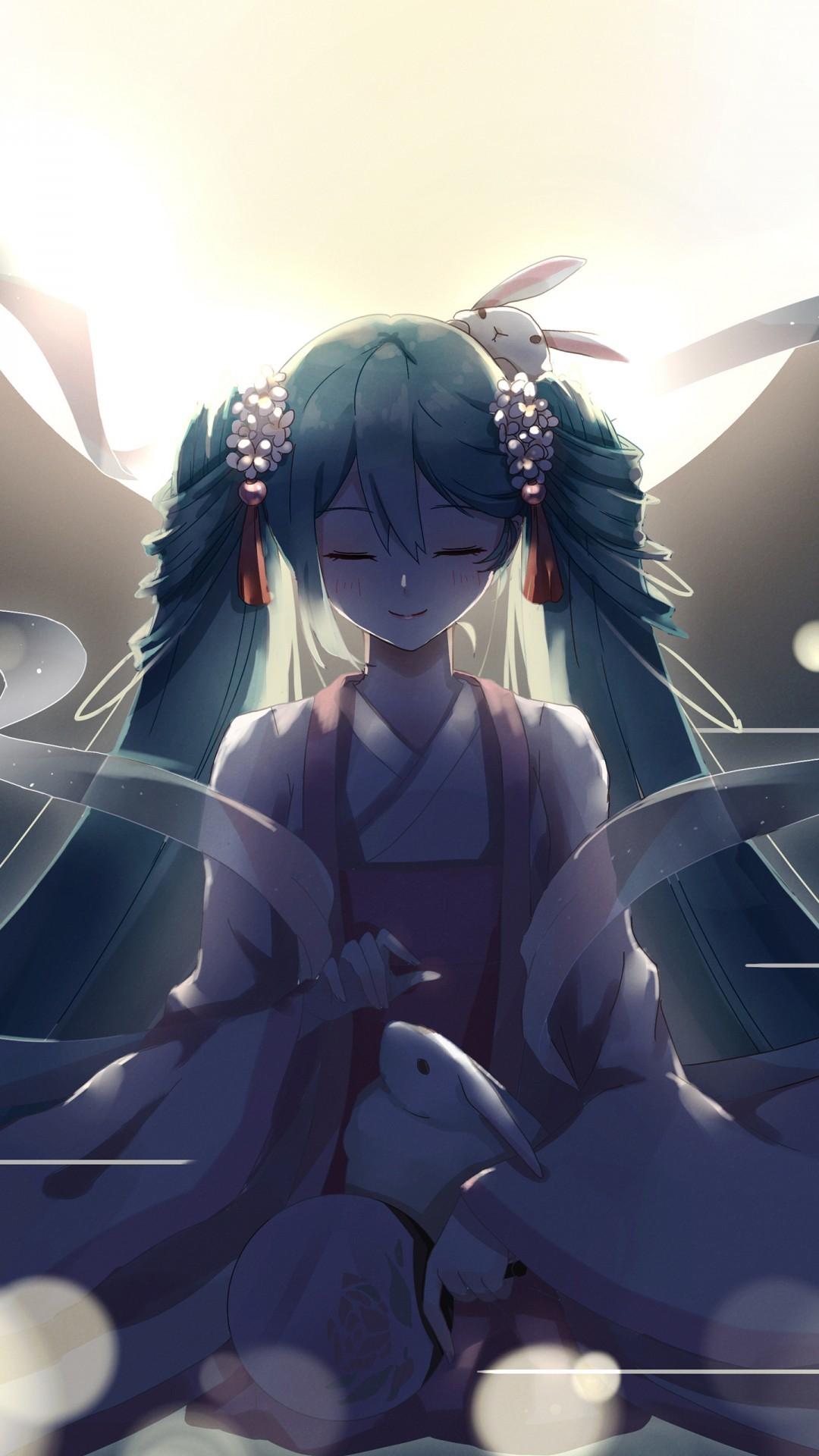 Free Hatsune Miku phone wallpaper by hauntednight3000