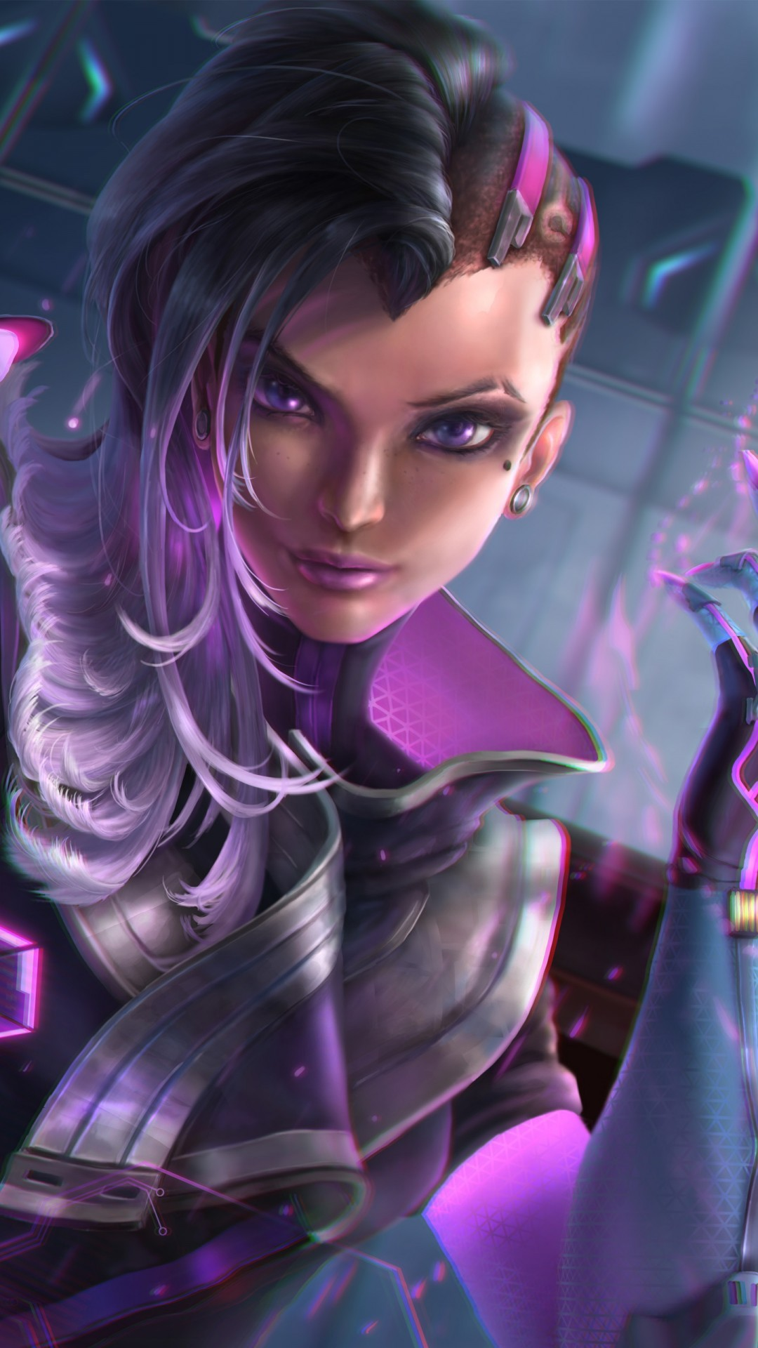 Free Sombra Overwatch Artwork phone wallpaper by lalato5