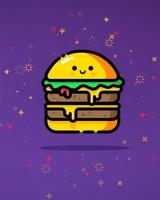 Double Cheeseburger Purple