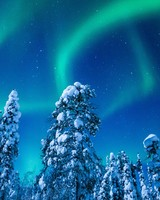 Landscape, Winter, Northern Lights, Finland