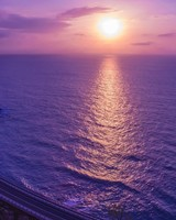 Purple Sunset Reflection