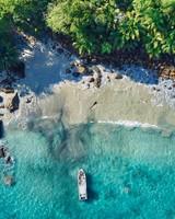 Silhouette Island Beach Aerial view