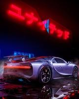 Bugatti Chiron Neon lights