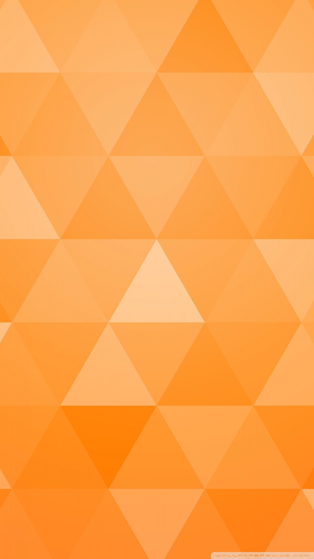 Free Orange Abstract Geometric Triangle phone wallpaper by shalant88