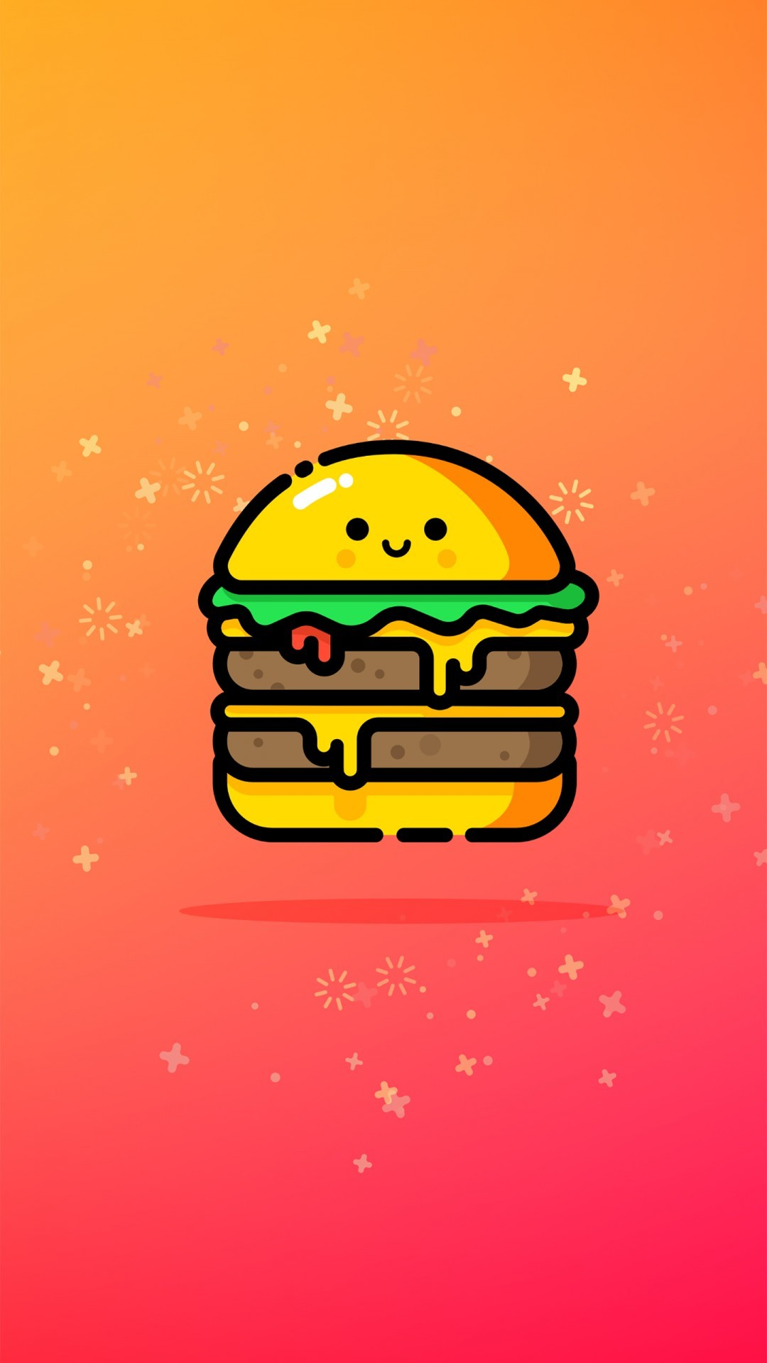 Free Cute Double Cheeese Burger phone wallpaper by betog