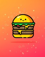 Cute Double Cheeese Burger
