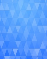 Abstract Christmas Trees Blue Triangles