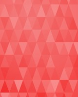 Abstract Christmas Trees Red Triangles