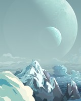 Alien Planet Landscape Illustration