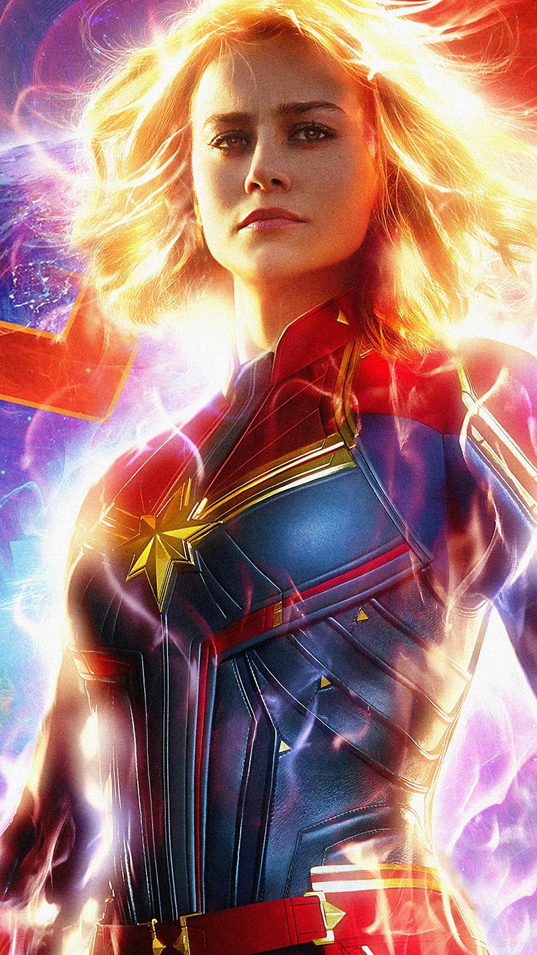Free Captain Marvel phone wallpaper by haha1010101