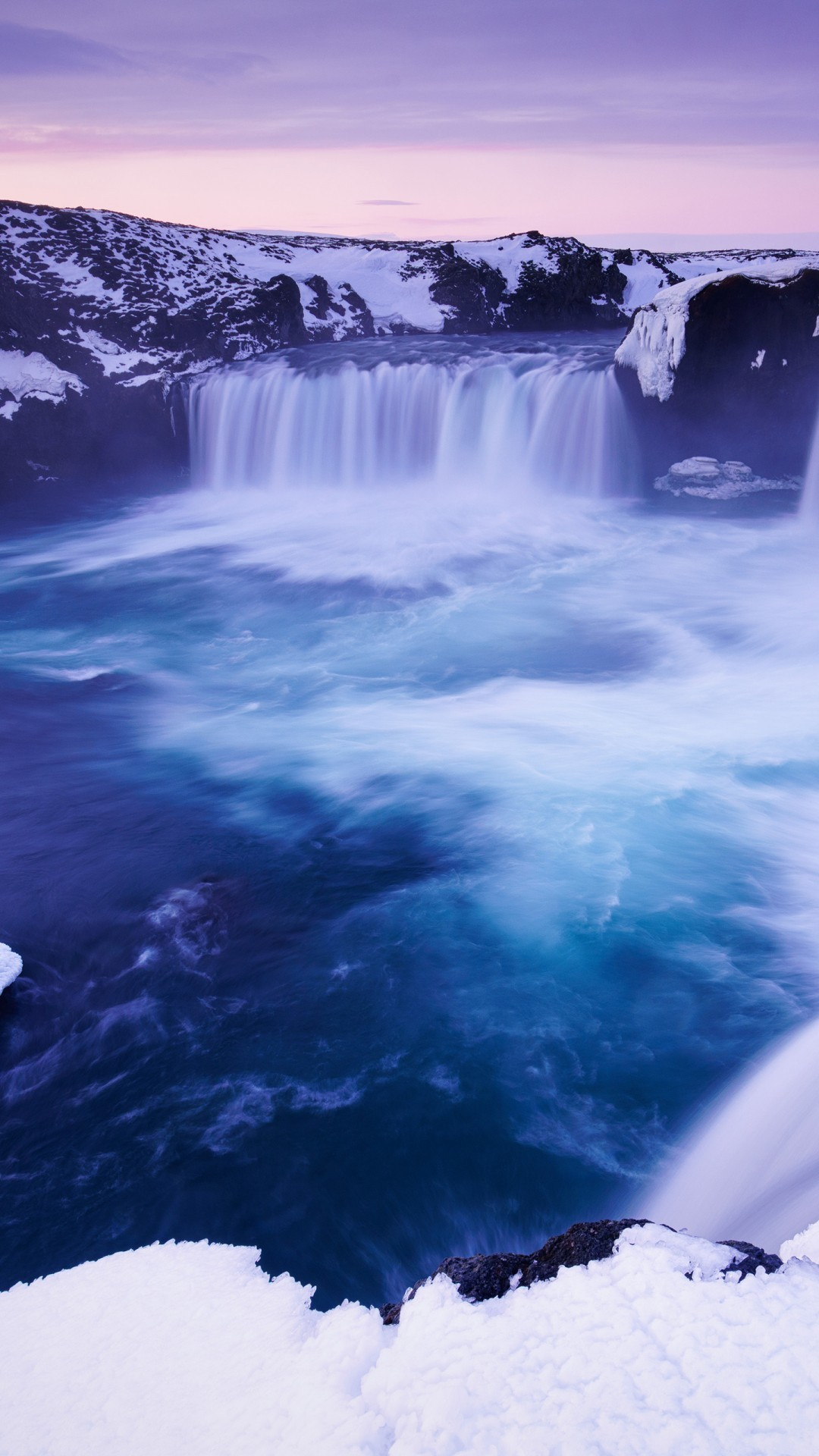 Free Godafoss waterfall Iceland phone wallpaper by reflections22