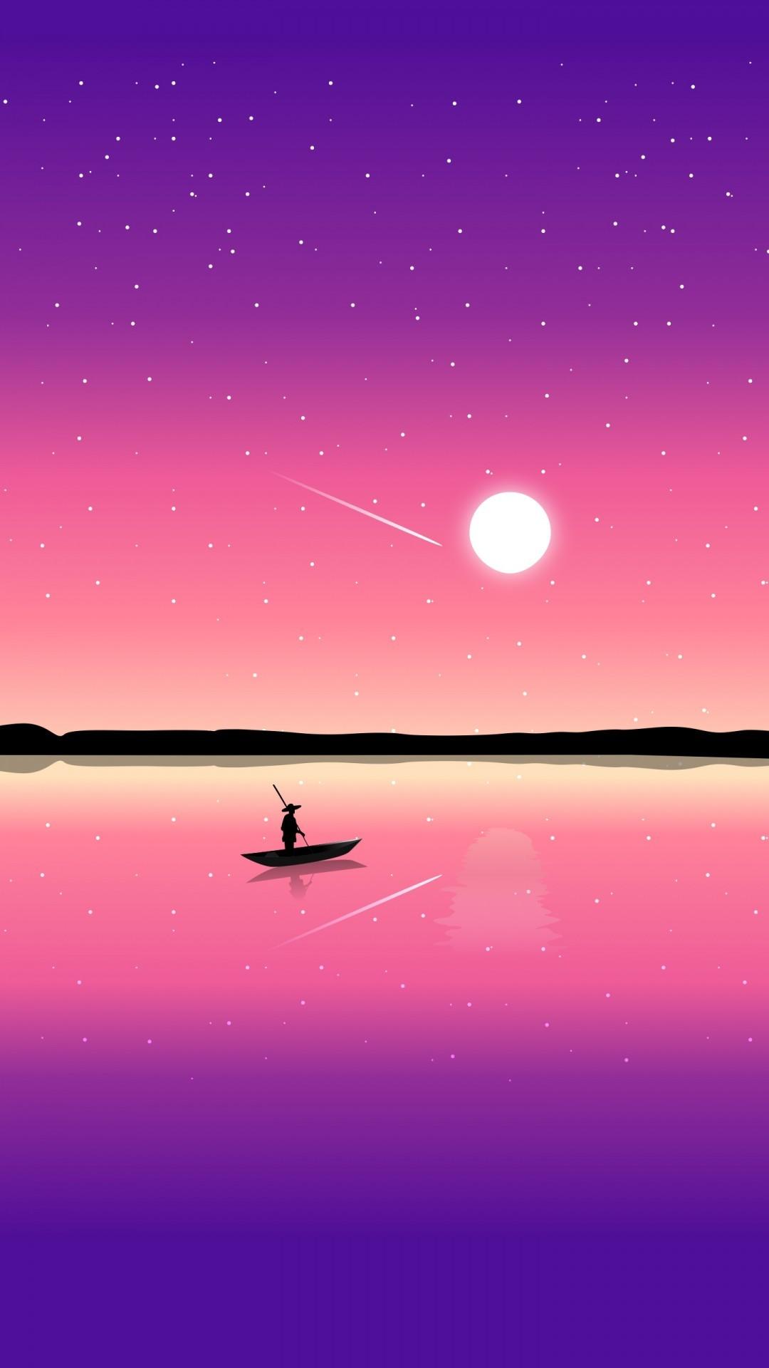 Free Sunset Illustration phone wallpaper by jessie1405
