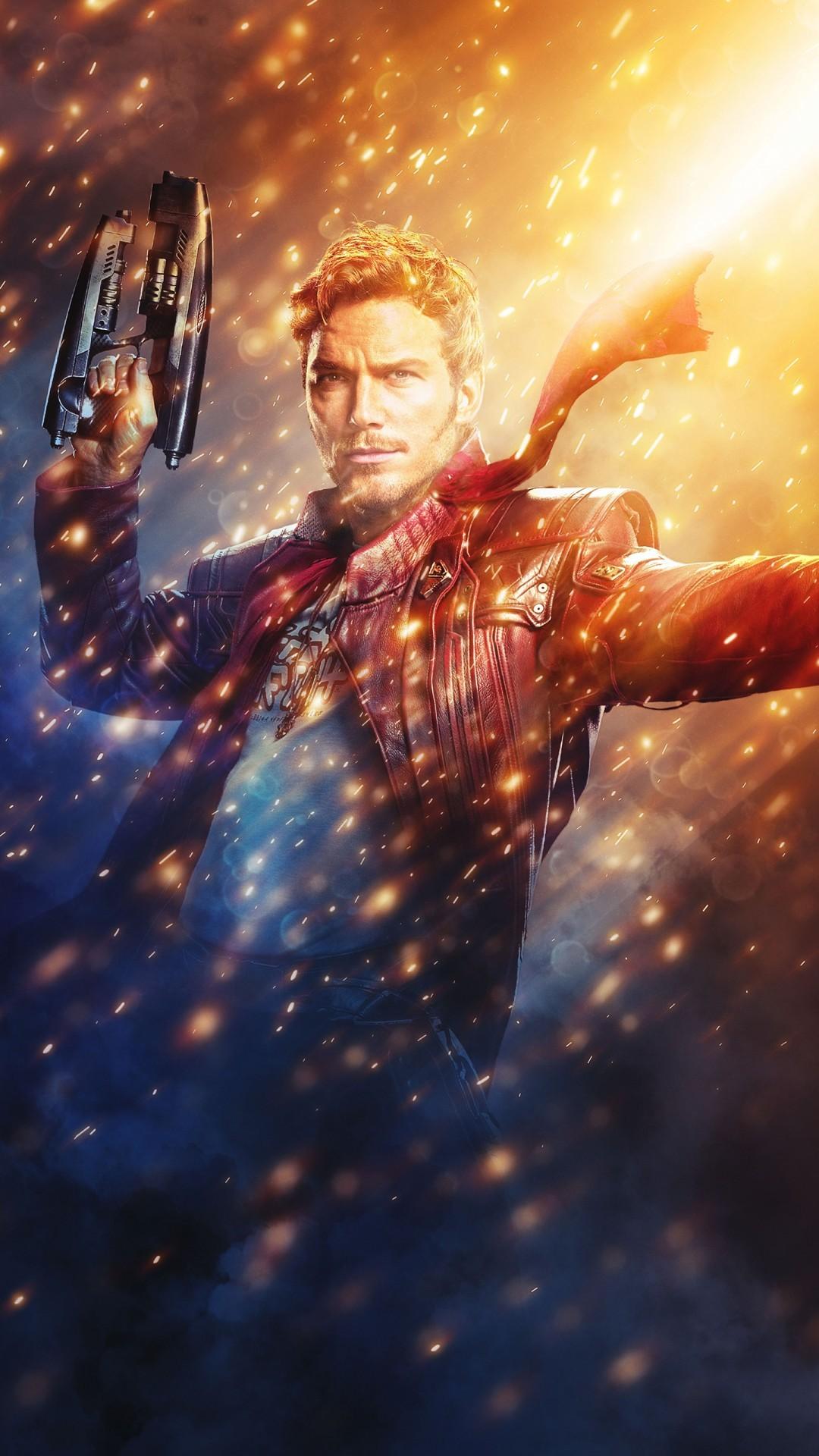 Free Chris Pratt as Star-Lord phone wallpaper by jd602