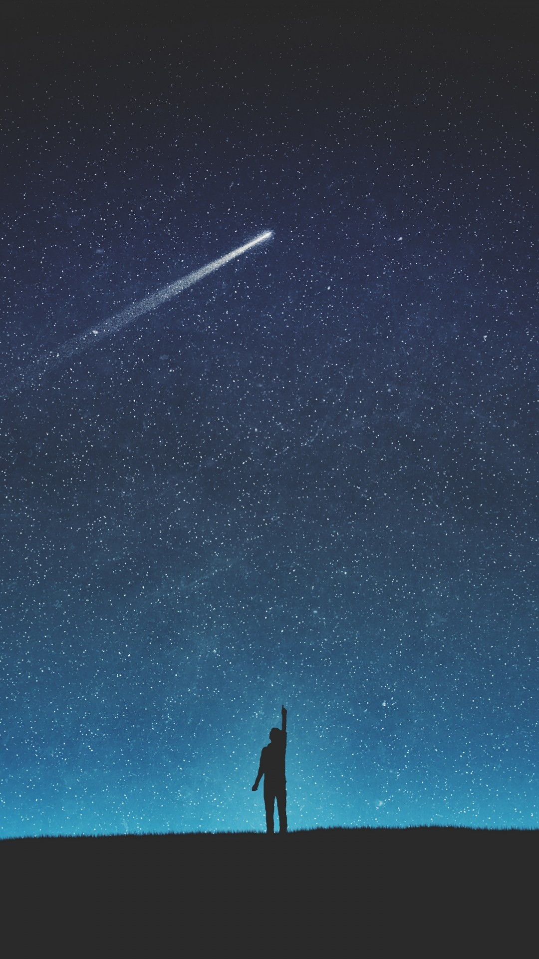 Free Shooting Star Silhouette phone wallpaper by mommyhoney