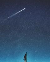 Shooting Star Silhouette
