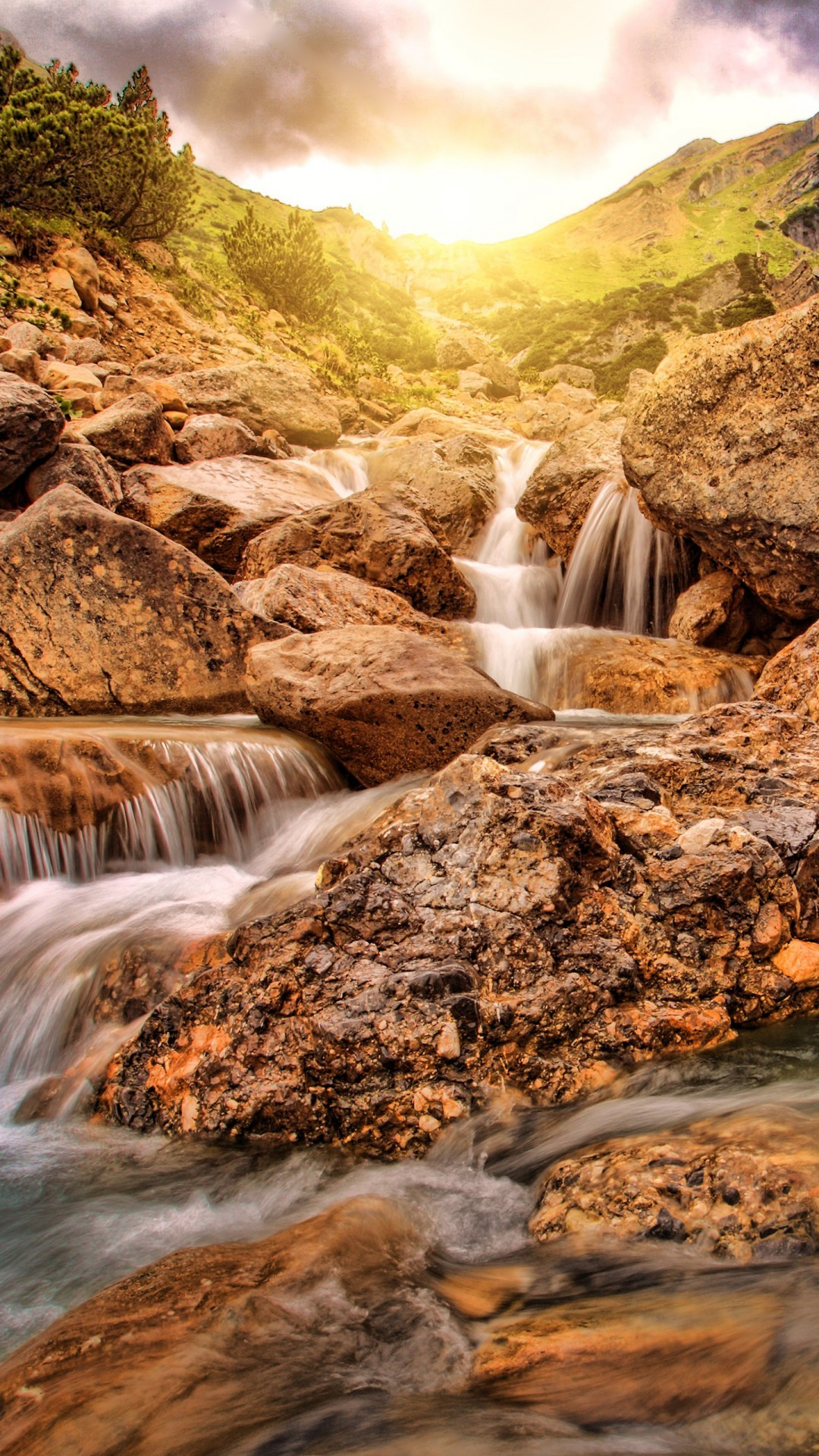 Free Glen Alpine Falls in California phone wallpaper by homeandbeds103