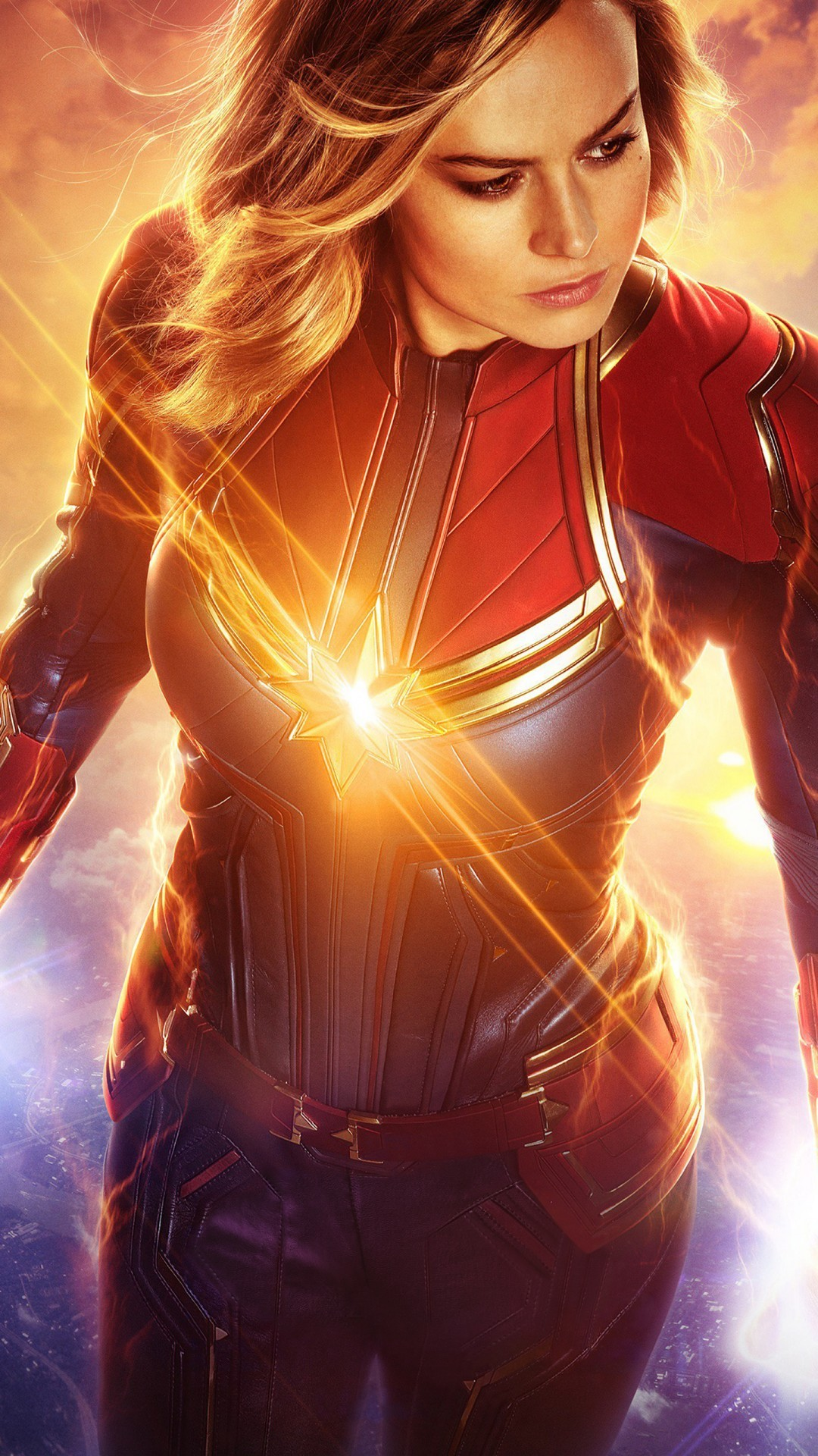 Free Brie Larson as Captain Marvel phone wallpaper by baylan_10