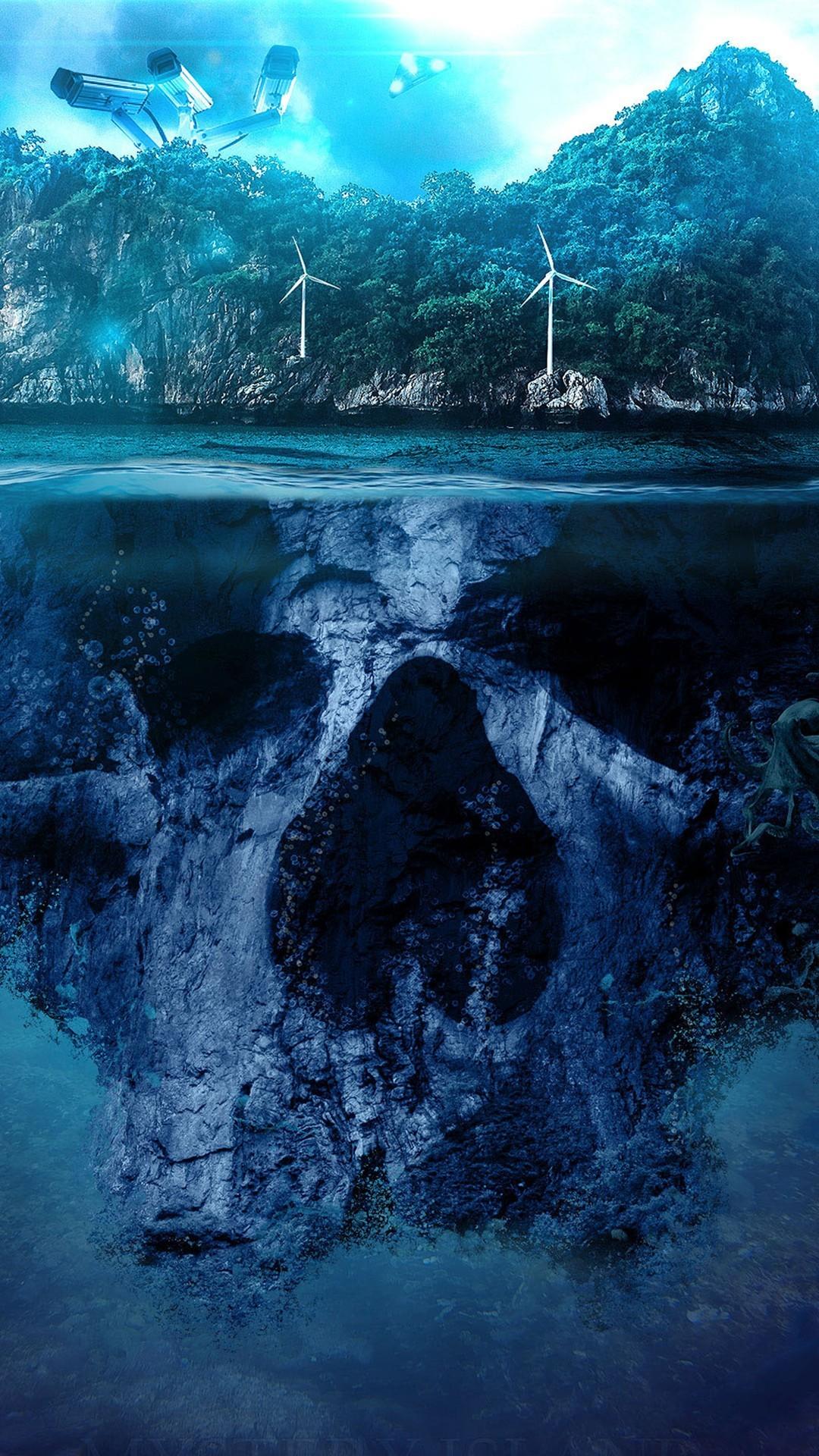 Free Mystery Skull Island phone wallpaper by devanxx33