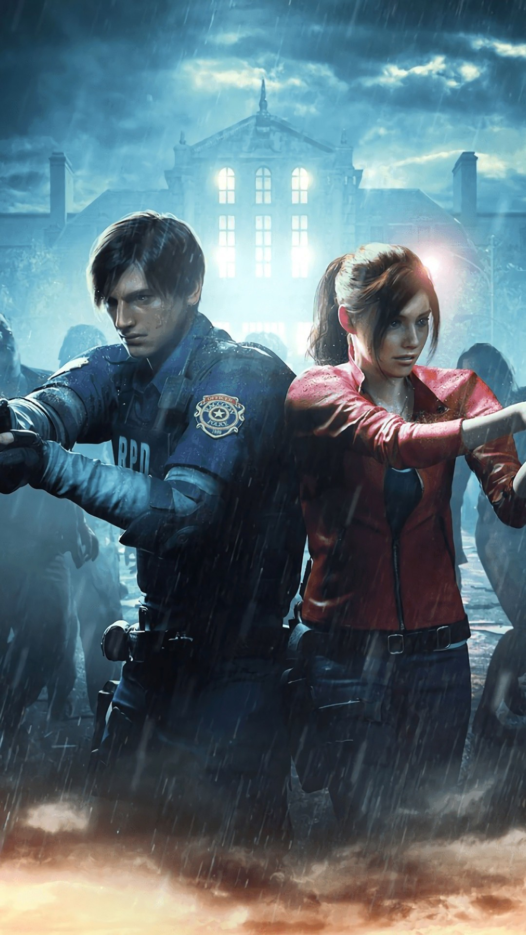 Free Resident Evil 2 phone wallpaper by really
