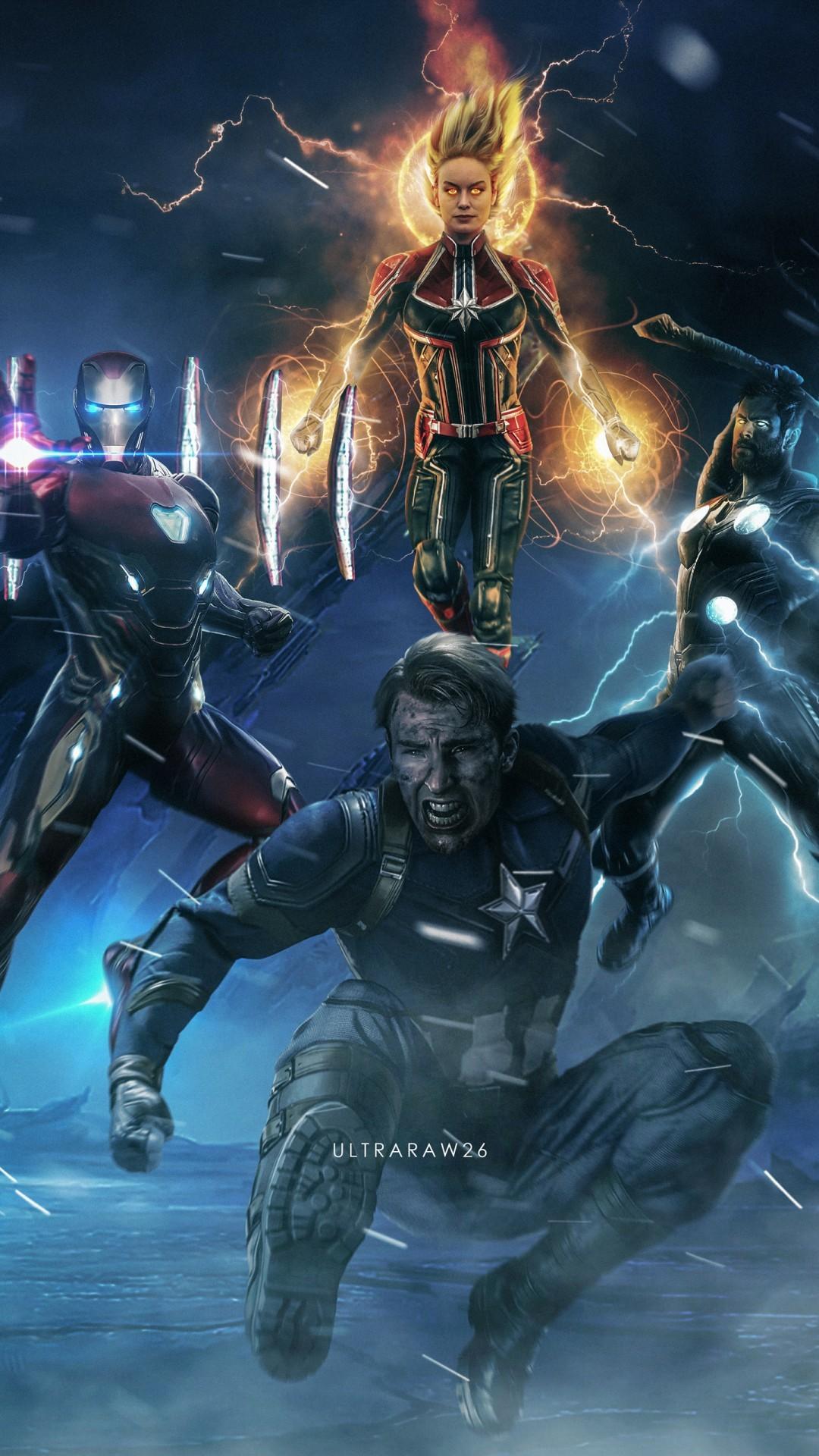 Free Avengers 4 Endgame Superheroes phone wallpaper by perez12
