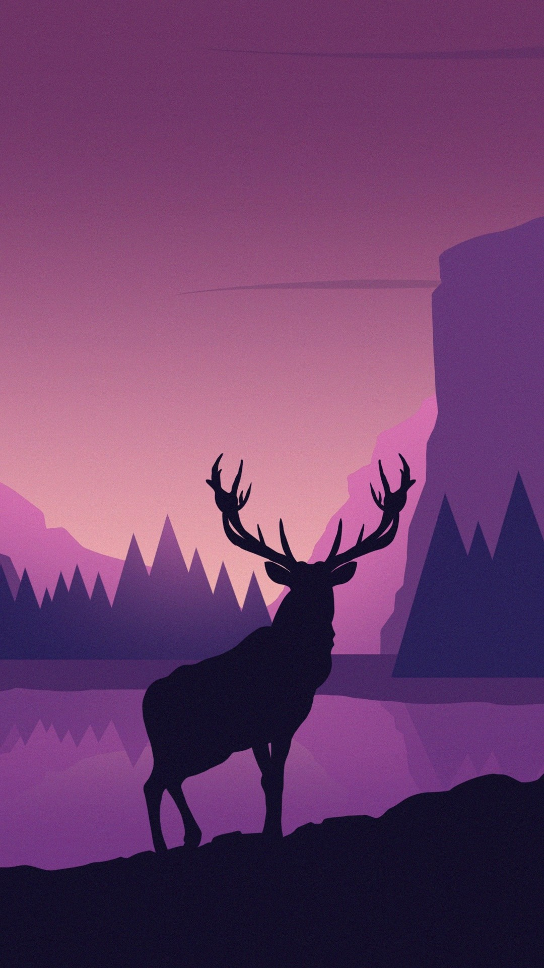 Free Deer, mountains, landscape phone wallpaper by titeanna