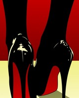Pop Art High Heels Shoes Red Bottom