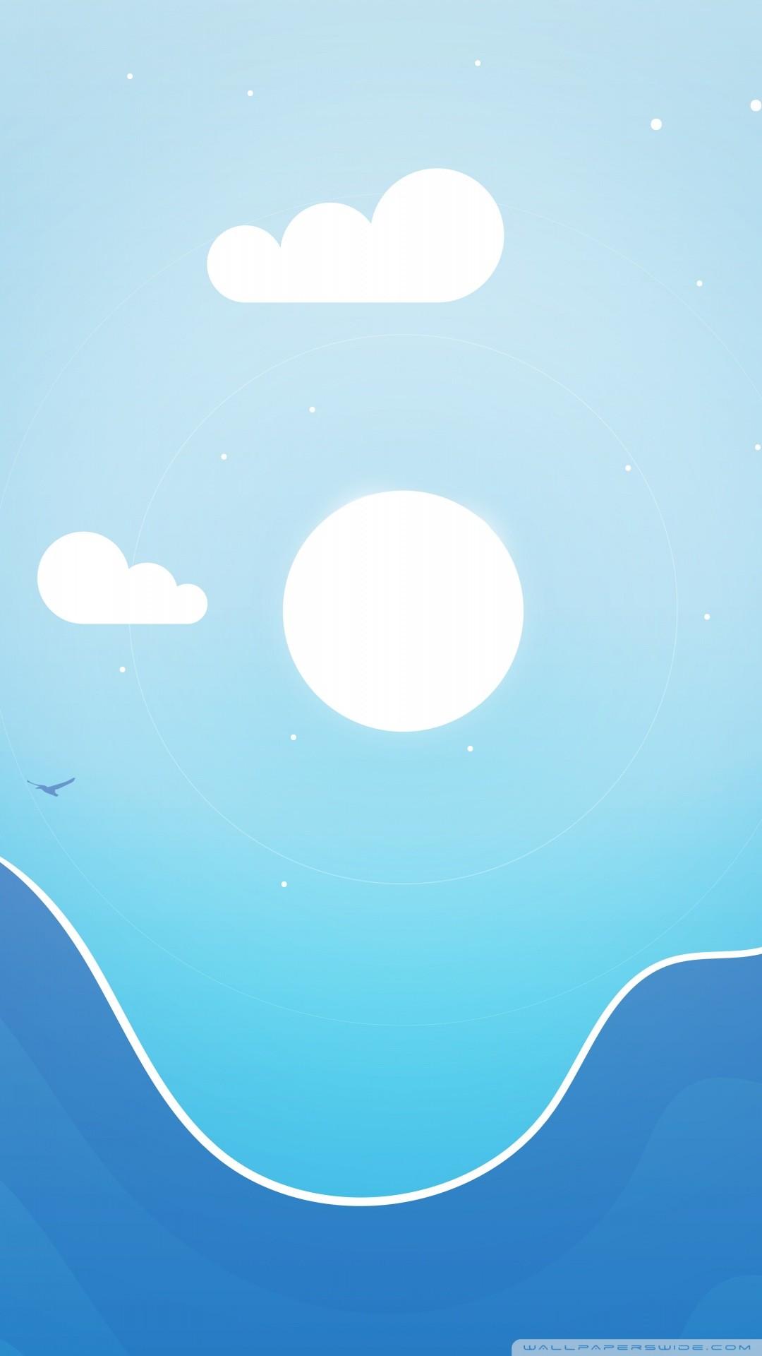 Free Simple Landscape Illustration phone wallpaper by katelyn7