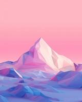 Lowpoly, Mountains, Landscape wallpaper 1