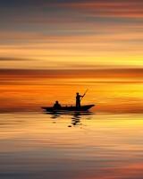Boating, Sunset