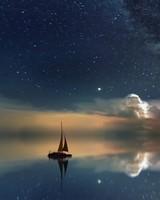 Astrophotography Ocean Night Stars Sky