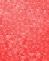 Red Geometric Triangles Pattern