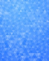 Blue Geometric Triangles Pattern