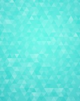 Cyan Geometric Triangles Pattern