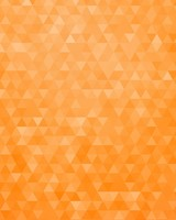Orange Geometric Triangles Pattern
