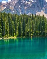 Karersee Lake Mountains
