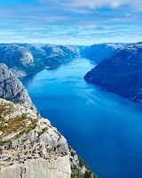 Preikestolen cliff River Norway