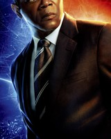 Samuel Jackson as Nick Fury in Captain Marvel