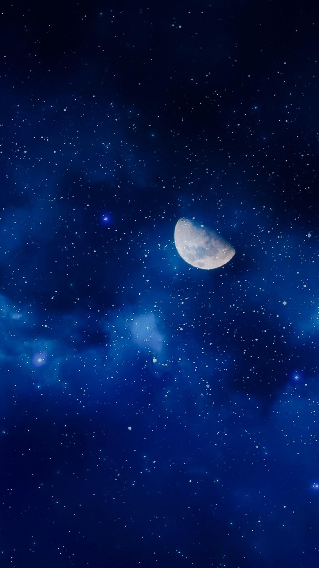 Free Moon Starry Sky phone wallpaper by garth71