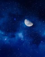 Moon Starry Sky