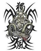 Buddah & Dragon wallpaper 1