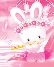 Free Pink Bunny.jpg phone wallpaper by mzplayful