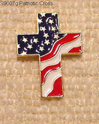 patriotic cross flag