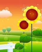 ##Sun Flower wallpaper 1