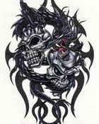 Images - Dragons - Black Dragon With Double Skulls.jpg