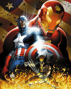Captain America, Iron Man, Wolverine
