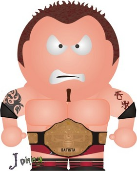 Free WWE South Park Batista With World Heavyweight Championship.jpg phone wallpaper by cacique