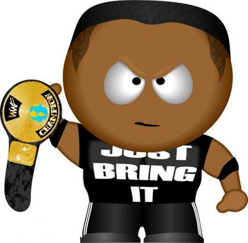 Free South Park WWE The Rock.jpg phone wallpaper by cacique