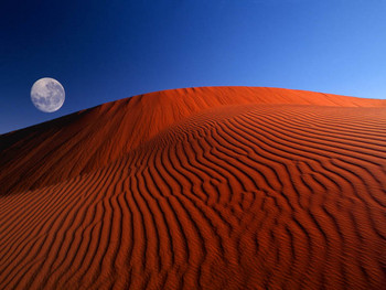 Free Red moon desert.jpg phone wallpaper by cacique