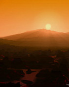 Red planet rise