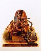 Boris Vallejo - Wallpaper - Dragons & Wizards  Egyptian Warr.jpg